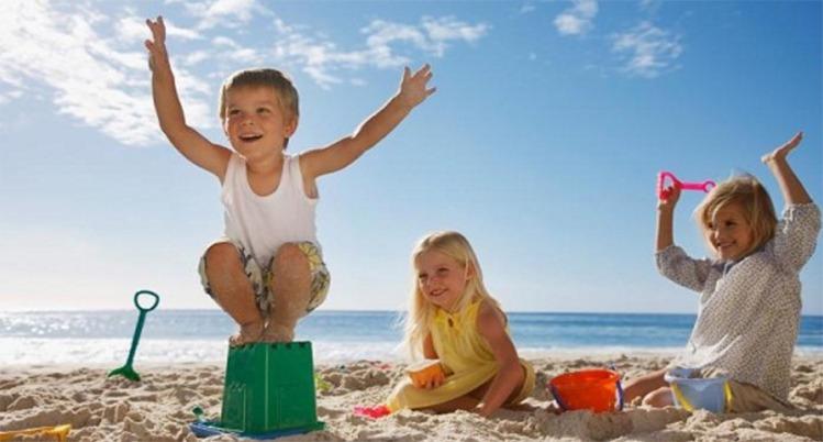 Wisata Pulau tidung anak - anak